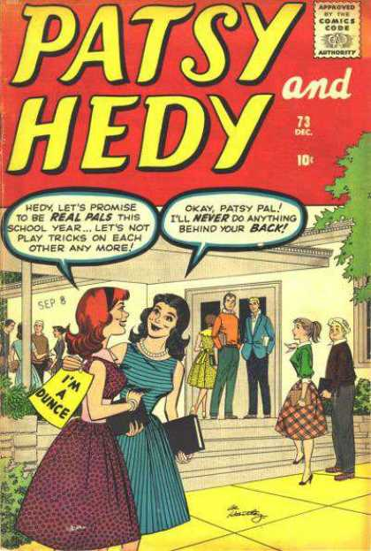 Patsy and Hedy 73 - Back - Tricks - Dunce - Pals - School