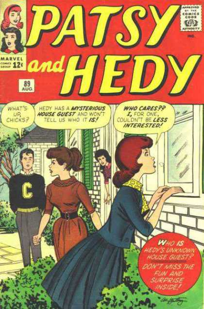 Patsy and Hedy 89 - Teen - Silver Age - Romance - Female Audience - Marvel Comics