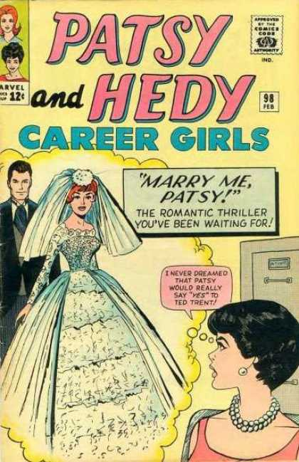 Patsy and Hedy 98 - 98 - Marry Me - Weddind Dress - Ted Trent - Romantic Thriller