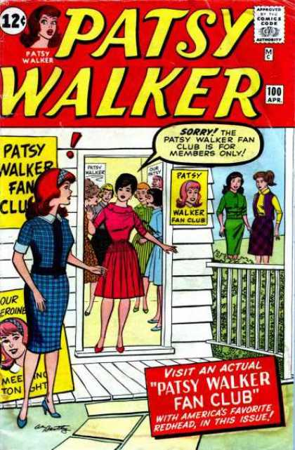 Patsy Walker 100 - April - Red Hair - Red Dress - Checkered Dress - Patsy Walker Fan Club