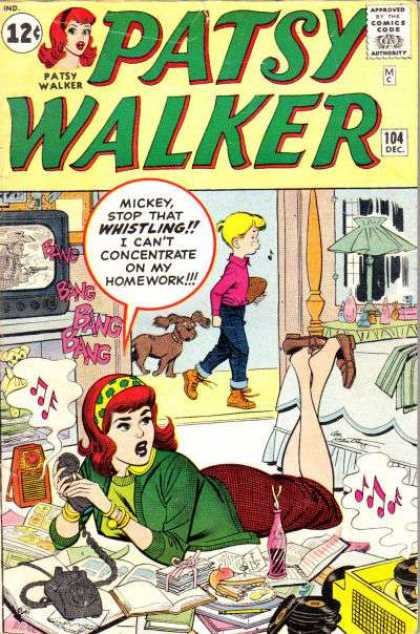 Patsy Walker 104 - Lamp - Boy - Teenager - Television - Bed