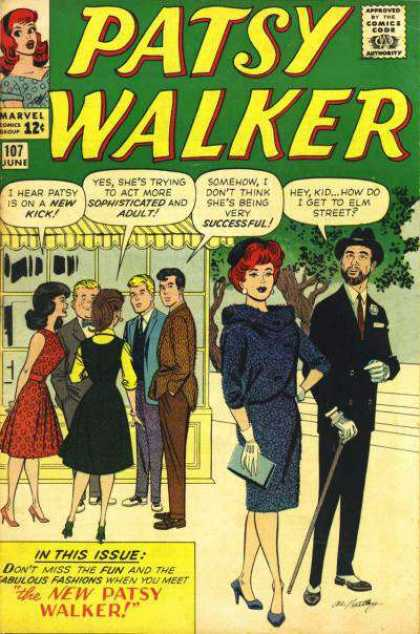 Patsy Walker 107 - Marvel Comics Group - The New Patsy Walker - Dialogue - Fancy Dress - Street Scene