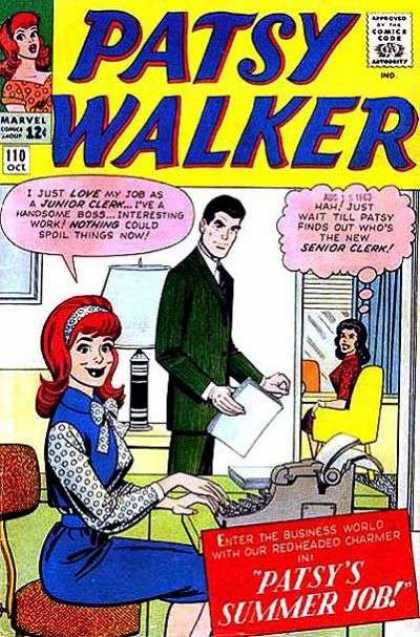 Patsy Walker 110 - Comics Code - Marvel - Senior Clerk - Patsy - Woman