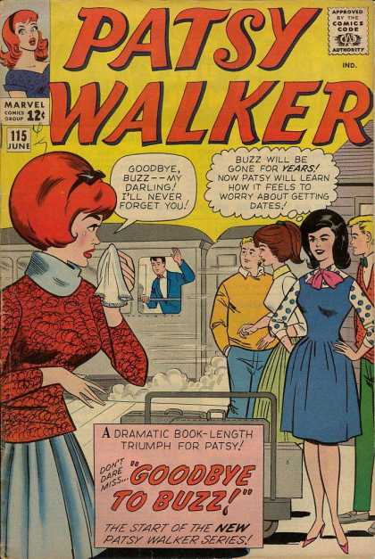 Patsy Walker 115 - Marvel - Jealous Women - Goodbye To Buzz - June - Red Head