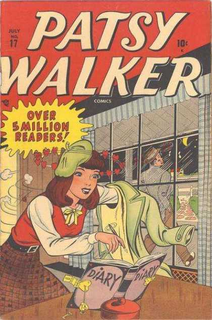 Patsy Walker 17 - Diary - Key - Green Hat And Coat - Window - Over 5 Million Readers