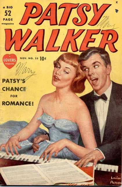 Patsy Walker 25 - Chance For Romance - Number 25 - 52 Page Magazine - Piano - Lousie Alston