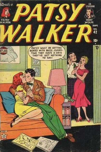Patsy Walker 42 - Kissing - Couch - Hedy Wolfe - Septt 42 - 10 Cents