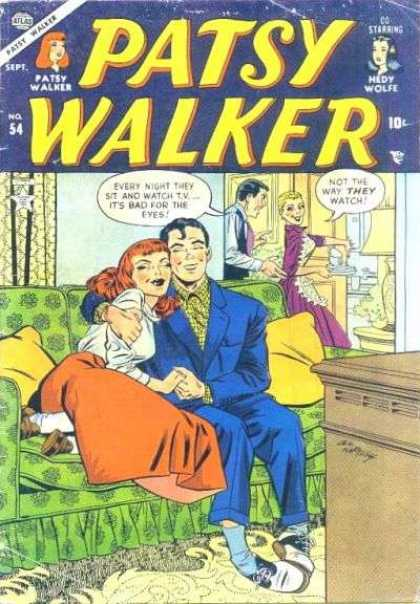 Patsy Walker 54 - Teens - Man - Woman - Sofa - Lamp