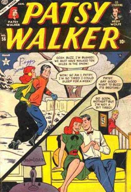 Patsy Walker 56 - Patsy Walker - Co-starring Hedy Wolfe - So Soon Mother But Im Not A Bit Tired - No 56 - Snow