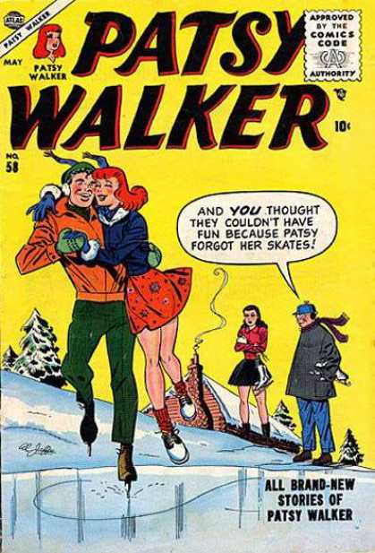 Patsy Walker 58 - Skates - Forgot - Ice - Snow - Stories