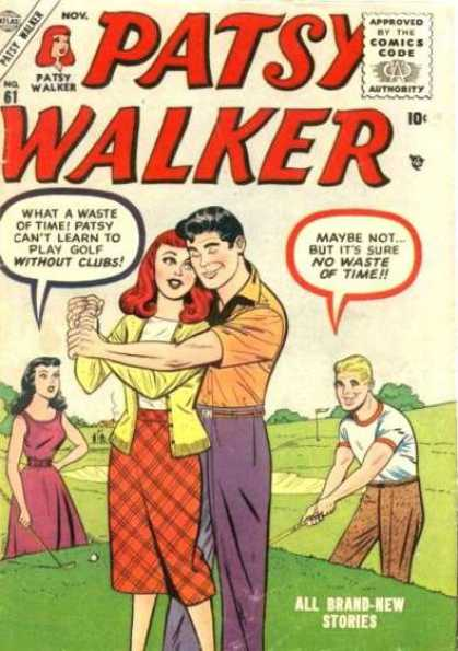 Patsy Walker 61 - Approved By The Comics Code Authority - Patsy Walker - All Brand-new Stories - Golf - Tree