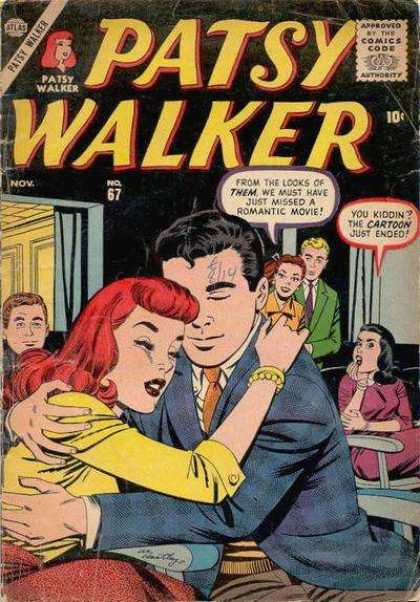 Patsy Walker 67 - Redhead - Speech Bubble - Bracelet - 10 Cents - Comics Code Authority