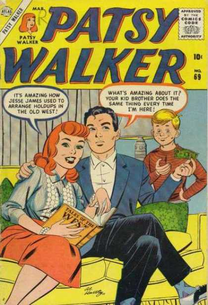 Patsy Walker 69 - Money - Lamp - Sofa - Book - Red Hair