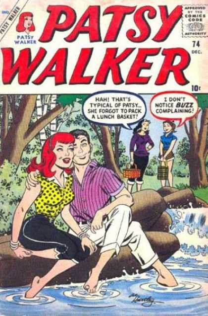 Patsy Walker 74 - Women - Man - Couple - Trees - Water