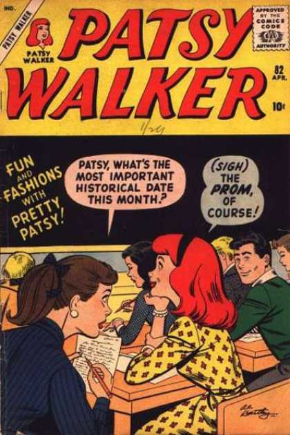 Patsy Walker 82 - 82 Apr - Approved By The Comics Code - Prom - Fun And Fashions - Redhead