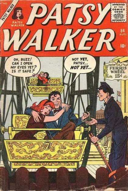 Patsy Walker 84 - Approved By The Comics Code Authority - Cap - Ferris Wheel - Oh Buzz - Can I Open My Eyes Yet