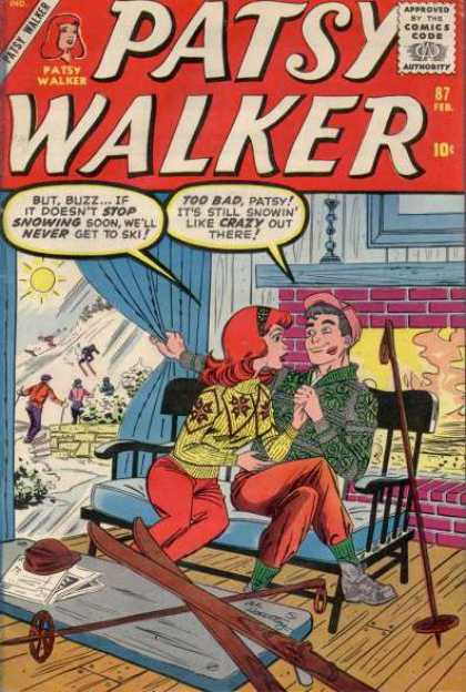 Patsy Walker 87 - Kisses - Snow - Skiing - Patsy Walker - Benches