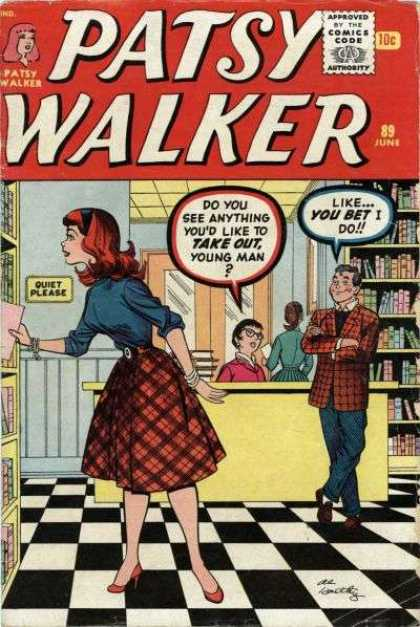 Patsy Walker 89 - Library - Quiet Please - Like You Bet I Do - Do You See Anything Youd Like To Take Out - Books