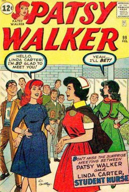 Patsy Walker 99 - Linda Carter - Redhead - Speech Bubble - Men - 12 Cents