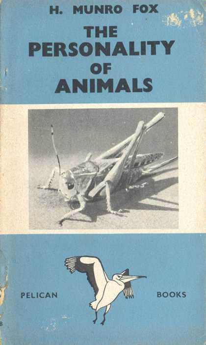 Pelican Books - 1943: The Personality of Animals (H.Munro Fox)