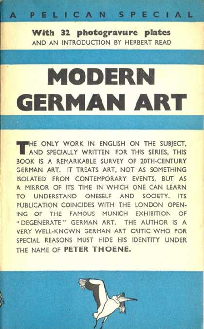 Pelican Books - 1938: Modern German Art (Peter Thoene)