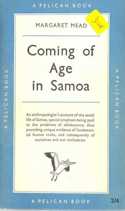 Pelican Books - 1954: Coming of Age in Samoa (Margaret Mead)