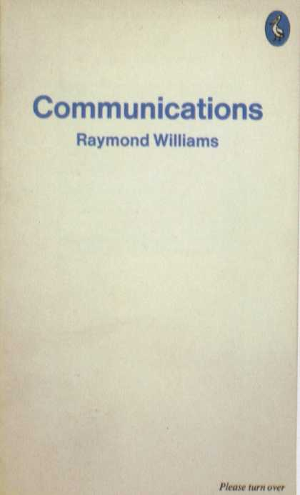 Penguin Books - Raymond Williams: Communications