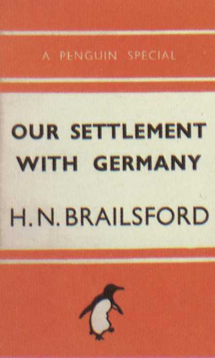 Penguin Books - Our Settlement With Germany