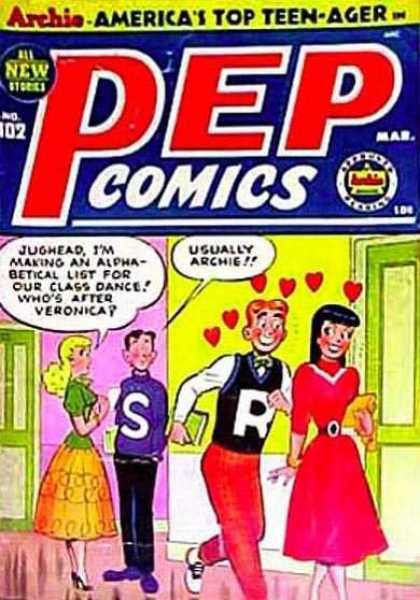 Pep Comics 102 - Archie - Love - Dance - Veronica - Hearts