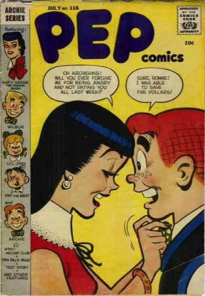 Pep Comics 116 - Ronnie - Archie - Save Five Dollars - Wilbur - Archiekins