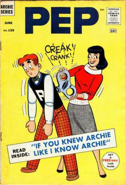 Pep Comics 139 - Archie - Girl - Robot - Love - Red Sweater