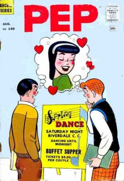 Pep Comics 140 - Spring - Dance - Saturday Night - Riverdale - Buffet Supper
