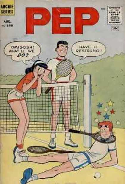 Pep Comics 148 - Tennis - Stars - Tennis Net - Tennis Racket - Tennis Court