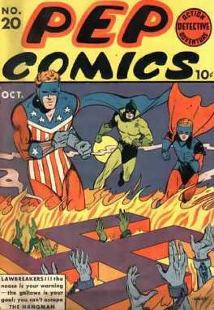 Pep Comics 20 - 20 - No 20 - Oct - Cape