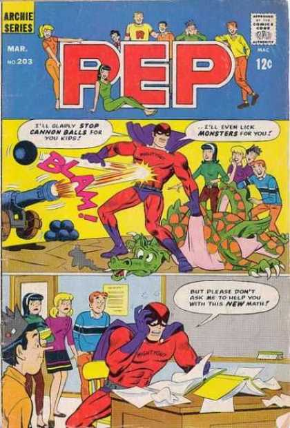 Pep Comics 203 - Cannon Balls - New Math - Monsters - Betty - Veronica