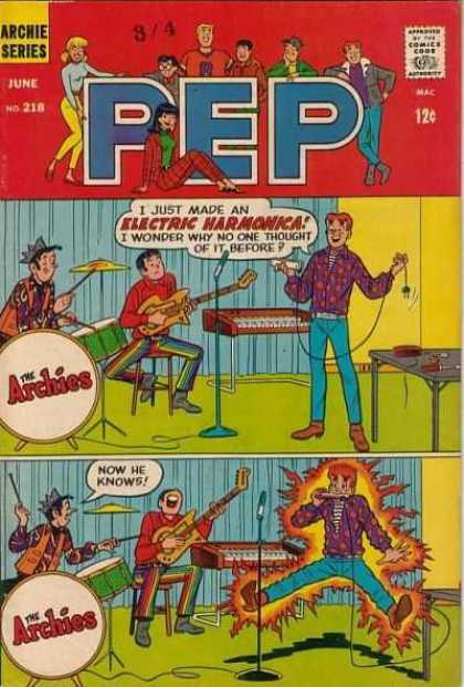 Pep Comics 218 - Electric Harmonica - Archie - The Archies - Archie Band - Zap