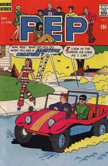 Pep Comics 236 - Beautiful Creature - I Look In The Mirror As Long As I Can - Car - Houses - Girl