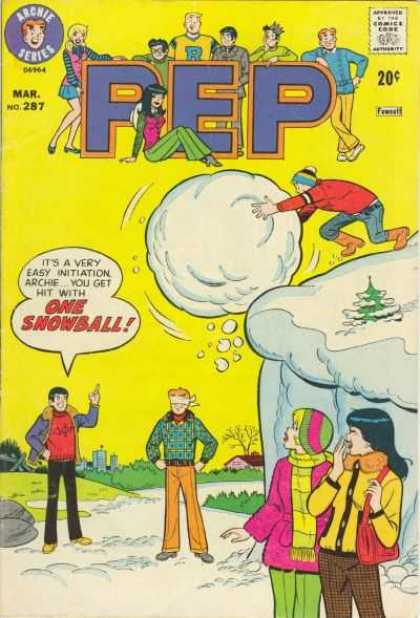 Pep Comics 287 - Archie - Snow Ball - Cliff - Blindfold - Veronica