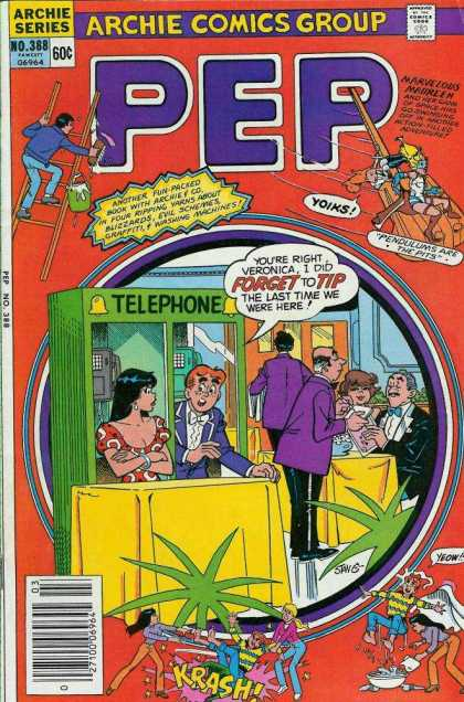 Pep Comics 388 - Telephone Booth - Archie - A Boy And Girl - Reception - Hotel
