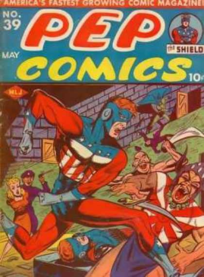 Pep Comics 39 - American Colors - No 39 - May - The Shield - Fortress