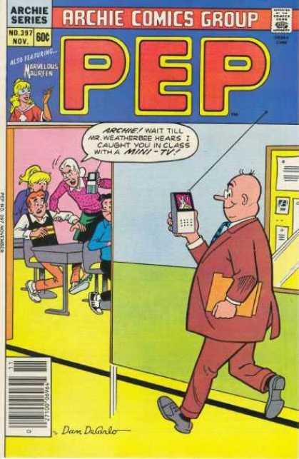 Pep Comics 397 - Comics Code Authority - Speech Bubble - Archie - Betty - Mini Tv