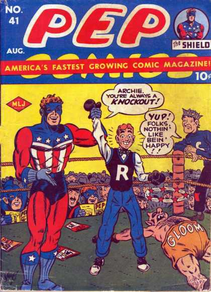 Pep Comics 41 - Pep Comics - The Shield - Boxing Ring - Archie - No 41
