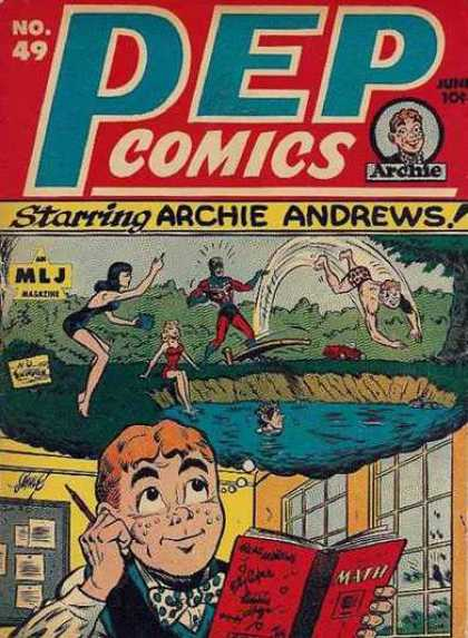 Pep Comics 49 - Pep Comics - Starring Archie Andrews - Mlj Magazine - Swimming Hole - Day Dreaming