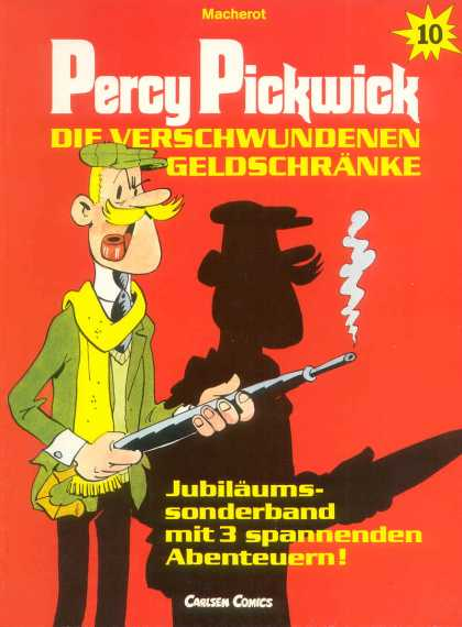 Percy Pickwick 10 - Macherot - Gun - Hunter - Smoke - Carlsen Comics
