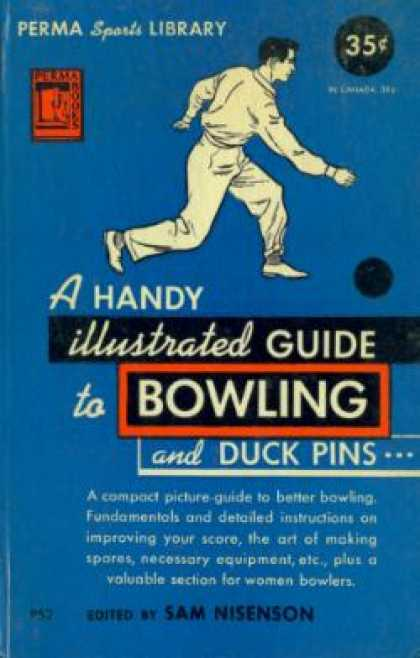 Perma Books - A Handy Illustrated Guide To Bowling and Duck Pins - Sam Nisenson