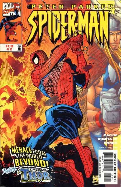 Peter Parker: Spider-Man 2 - Marvel Comics - Web - Thor - Approved By The Comics Code - Hammer - John Romita