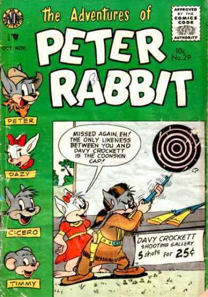 Peter Rabbit 29 - Timmy - Dazy - Target - Davy Crockett - Shooting Gallery