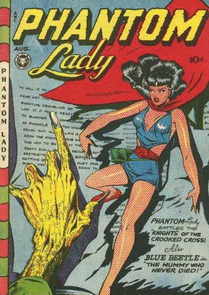 Phantom Lady 13 - Female Superhero - Battling Nemesis - Undead Mummy - Doom - Matt Baker
