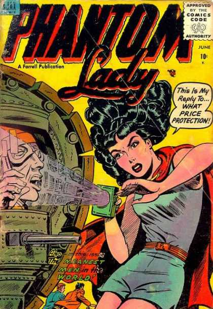 Phantom Lady 4 - A Farrell Oublication - Red Cape - Meanest Men In The World - Brown Belt - Curly Black Hair