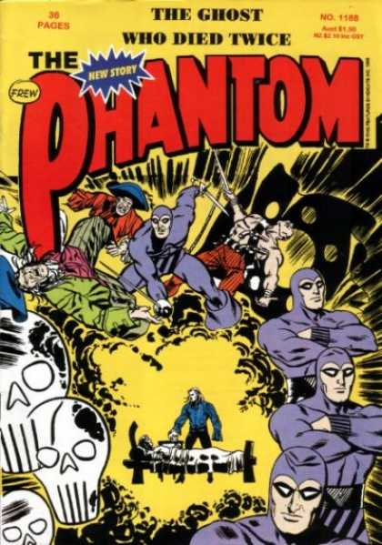 Phantom 1188 - The Ghost Who Died Twice - Skulls - Cloud Of Dust - Swords - Killing